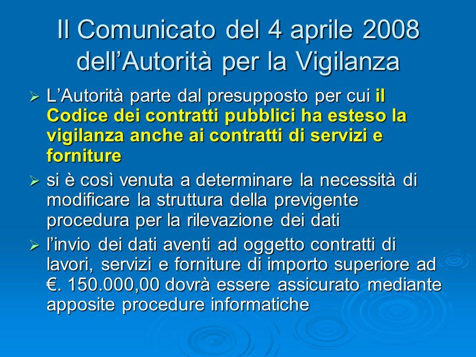 LOsservatorio dei contratti pubblici Il soggetto che ometta, senza giustificato motivo, di fornire i dati richiesti è sottoposto, con provvedimento de