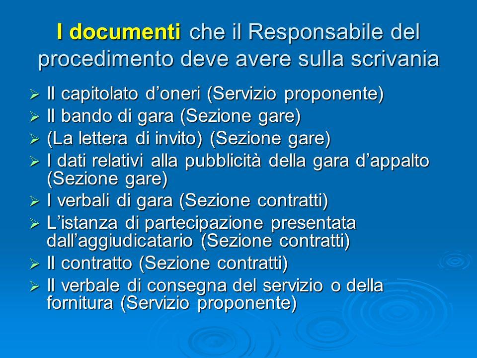 Il presente documento: si rivolge ai soli responsabili del procedimento nominati dalla Regione Umbria per laffidamento di appalti di servizi e fornitu