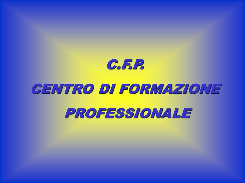 C.F.P. CENTRO DI FORMAZIONE PROFESSIONALE PROFESSIONALE