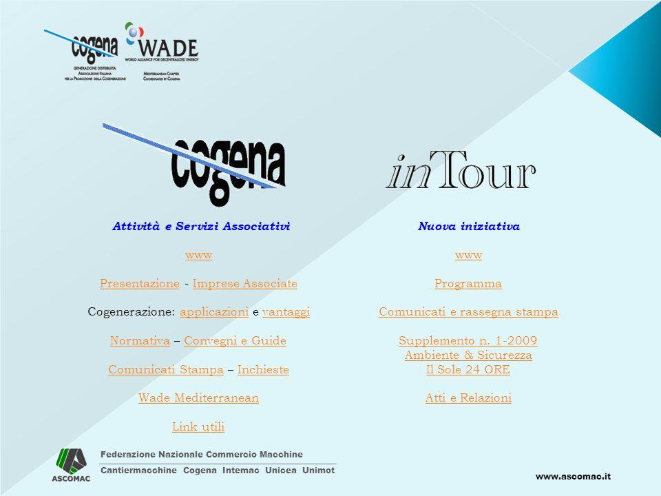 Federazione Nazionale Commercio Macchine Cantiermacchine Cogena Intemac Unicea Unimot www.ascomac.it N.B.