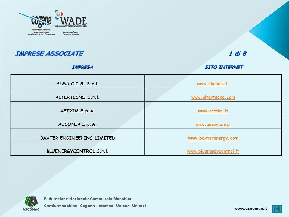 Federazione Nazionale Commercio Macchine Cantiermacchine Cogena Intemac Unicea Unimot www.ascomac.it SITO INTERNET IMPRESA CAD STUDIO S.r.l.