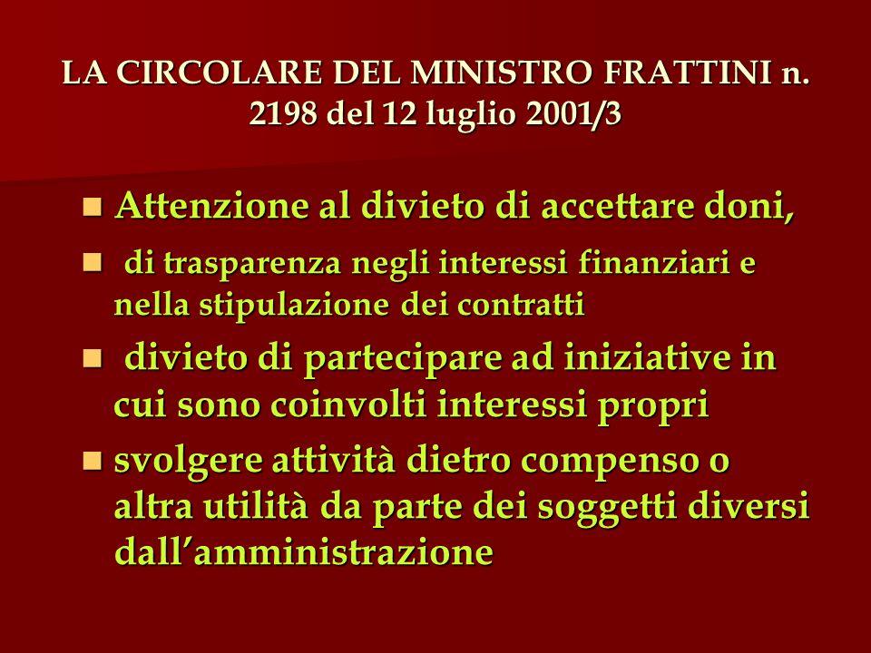 LA CIRCOLARE DEL MINISTRO FRATTINI n.
