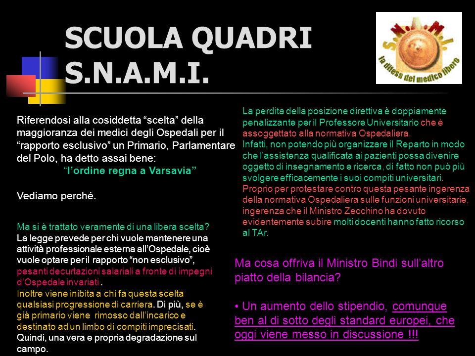 SCUOLA QUADRI S.N.A.M.I.