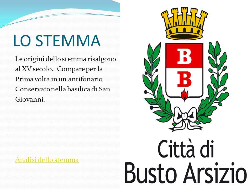 LO STEMMA Le origini dello stemma risalgono al XV secolo. Compare per la Prima volta in un antifonario Conservato nella basilica di San Giovanni. Anal