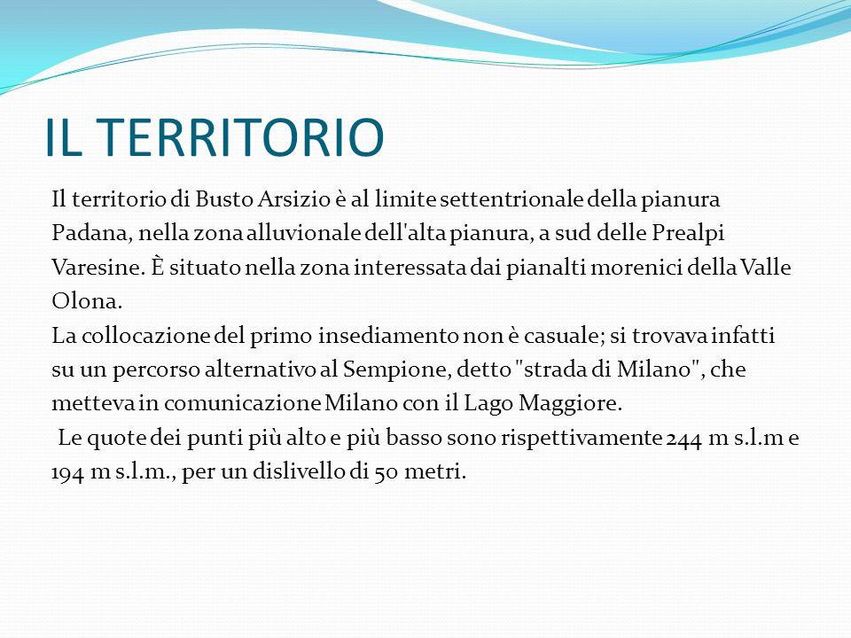 IL TERRITORIO Il territorio di Busto Arsizio è al limite settentrionale della pianura Padana, nella zona alluvionale dell'alta pianura, a sud delle Pr