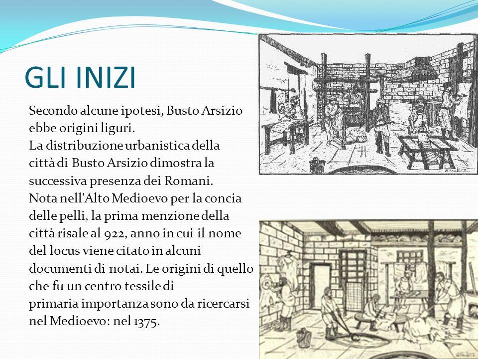 GLI INIZI Secondo alcune ipotesi, Busto Arsizio ebbe origini liguri. La distribuzione urbanistica della città di Busto Arsizio dimostra la successiva
