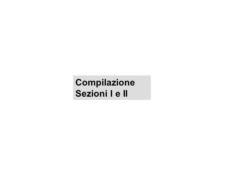 Compilazione Sezioni I e II