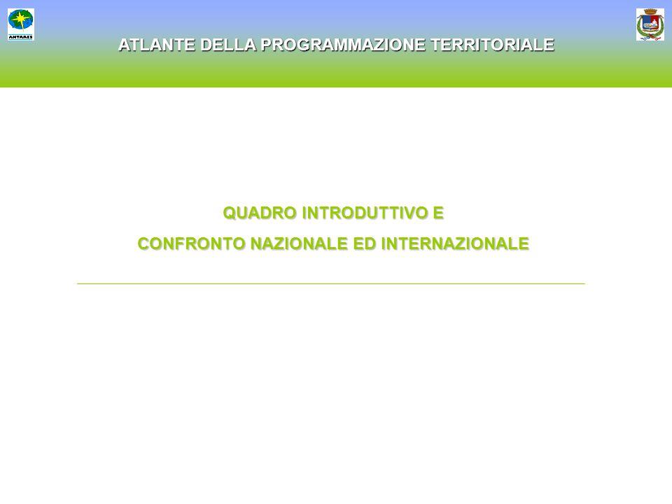 ATLANTE DELLA PROGRAMMAZIONE TERRITORIALE QUADRO INTRODUTTIVO E CONFRONTO NAZIONALE ED INTERNAZIONALE