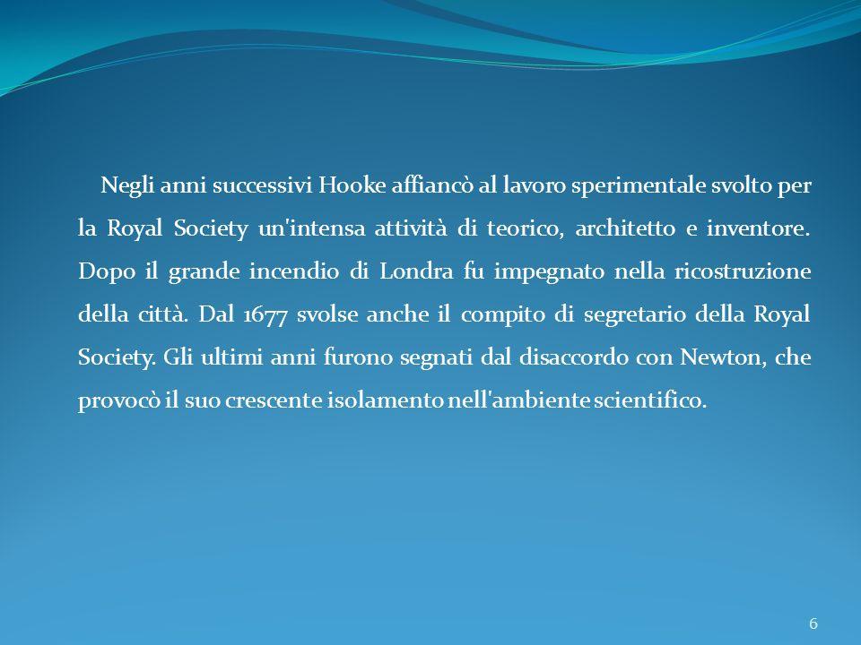 La legge di Hooke descrive il comportamento di una molla sottoposta ad una forza esterna.