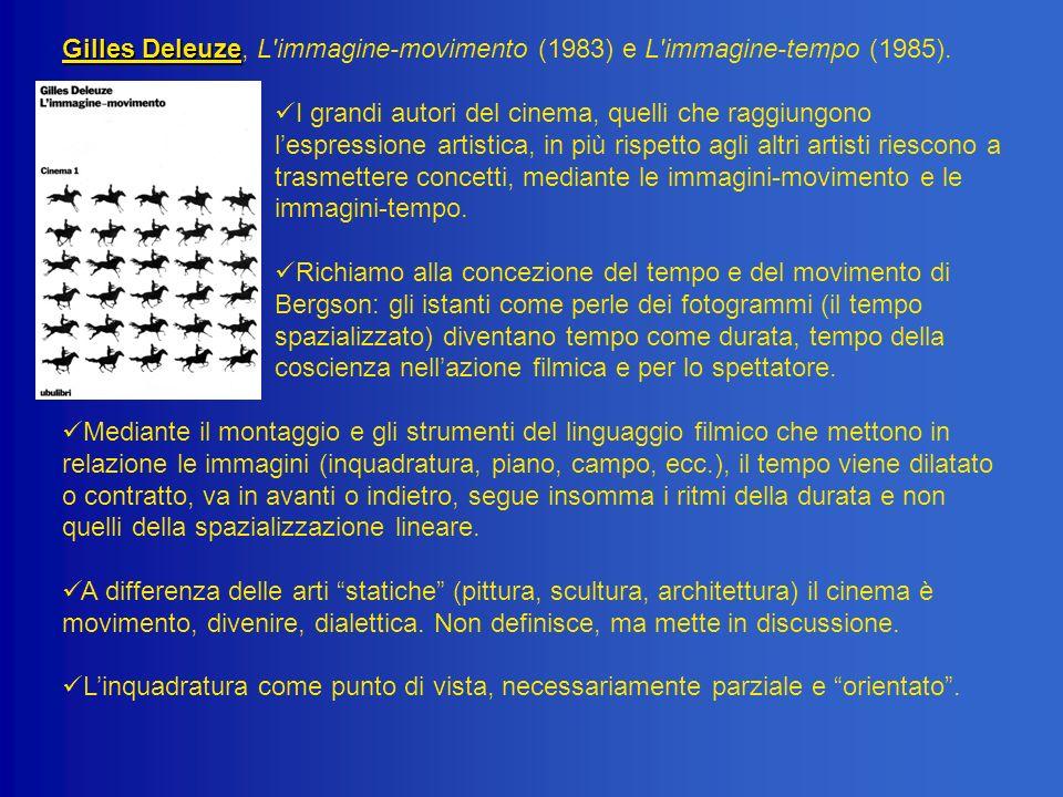 Gilles Deleuze Gilles Deleuze, L'immagine-movimento (1983) e L'immagine-tempo (1985). I grandi autori del cinema, quelli che raggiungono lespressione
