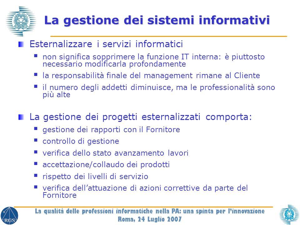 Per informazioni e aggiornamenti Sul CNIPA www.cnipa.gov.it Per contattarmi schaerf@cnipa.it La qualità delle professioni informatiche nella PA: una spinta per linnovazione Roma, 24 Luglio 2007