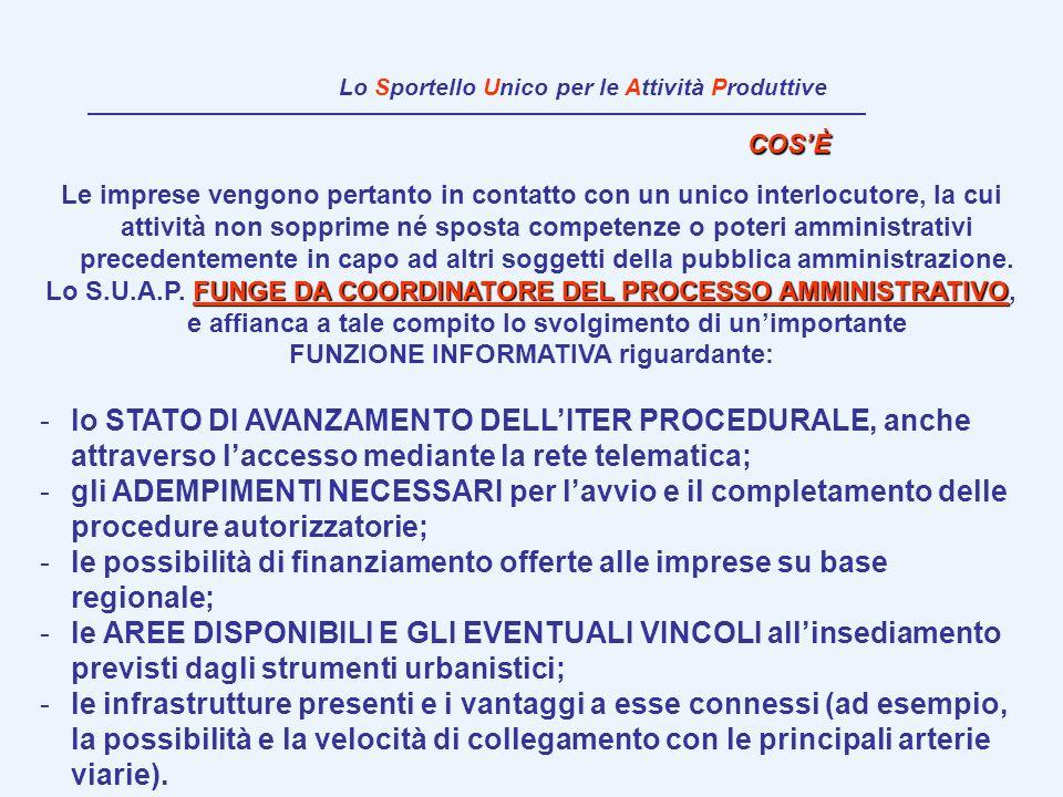 VARIANTI URBANISTICHE nellambito dello Sportello Unico per le Attività Produttive (SUAP) articolo 5 del D.P.R.447/1998 e ss.mm.ii.