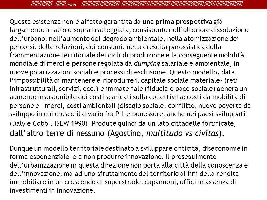 Sant ' Anna - IRME 2005 Alberto Magnaghi : Conoscenza e progetto del territorio per l ' innovazione Questa esistenza non è affatto garantita da una pr