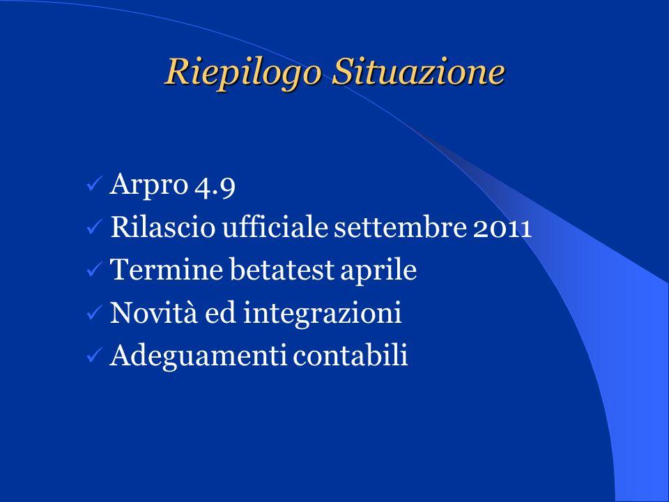 Progetto Gestionale Soluzioni Arpro Arpro @/Arpro (ambiente.net)