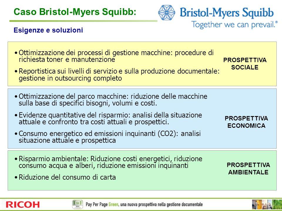 Ottimizzazione dei processi di gestione macchine: procedure di richiesta toner e manutenzione Reportistica sui livelli di servizio e sulla produzione