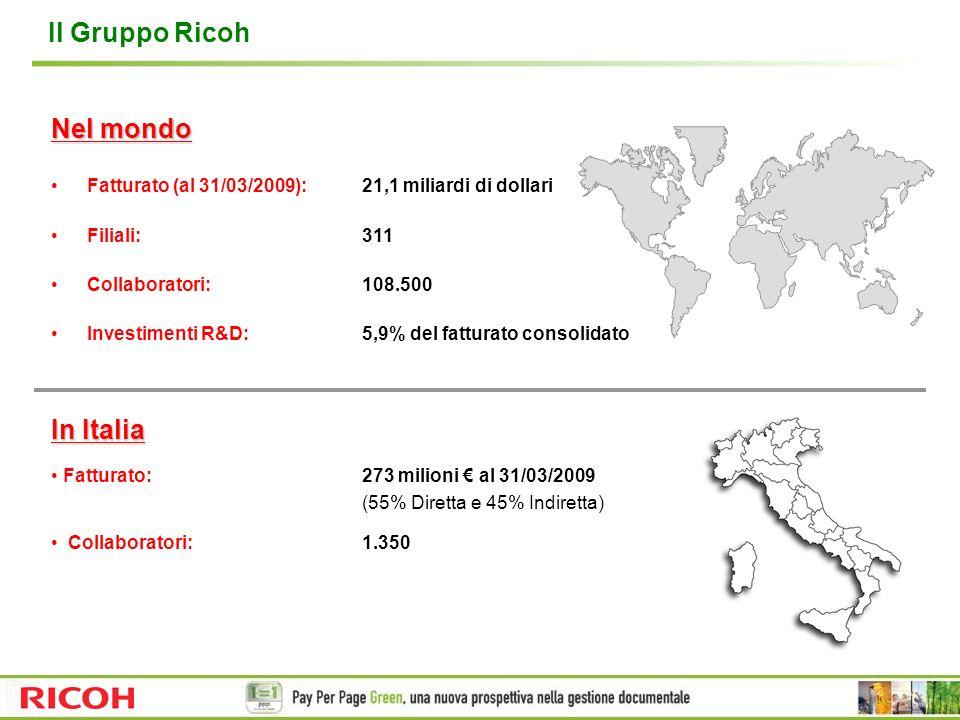 Ricoh Italia: qualità e certificazioni ISO 9001:2000 Sistema di gestione della qualità Certifica che una organizzazione attua unefficace gestione della Qualità, con lobiettivo di raggiungere la massima soddisfazione del Cliente.