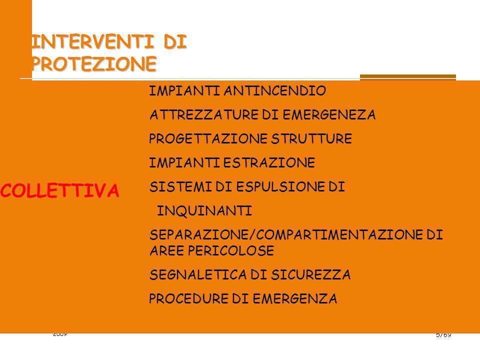 2009 5/69 INTERVENTI DI PROTEZIONE IMPIANTI ANTINCENDIO ATTREZZATURE DI EMERGENEZA PROGETTAZIONE STRUTTURE IMPIANTI ESTRAZIONE SISTEMI DI ESPULSIONE D