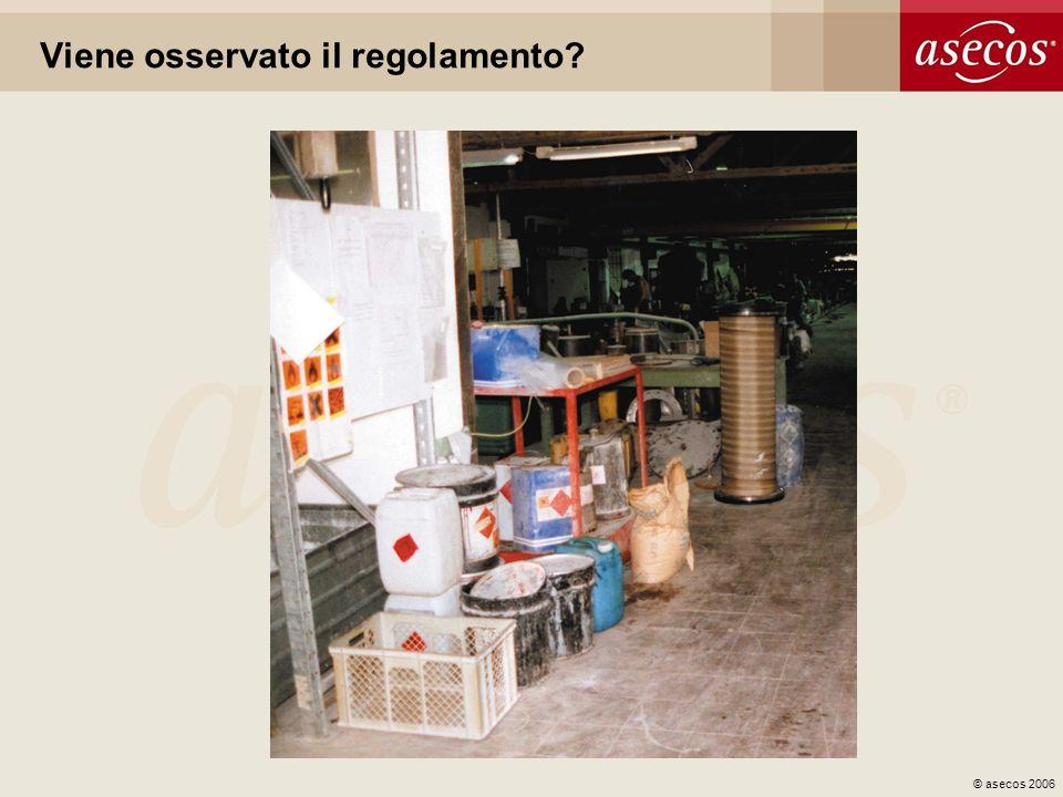 © asecos 2006 Viene osservato il regolamento?