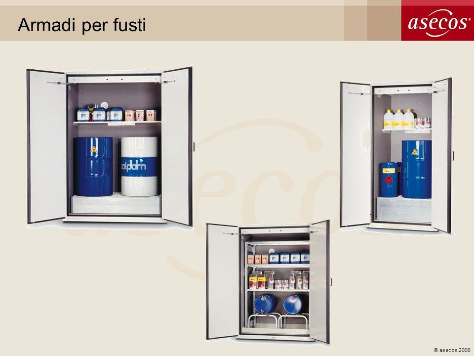 © asecos 2006 Armadi per bombole di gas