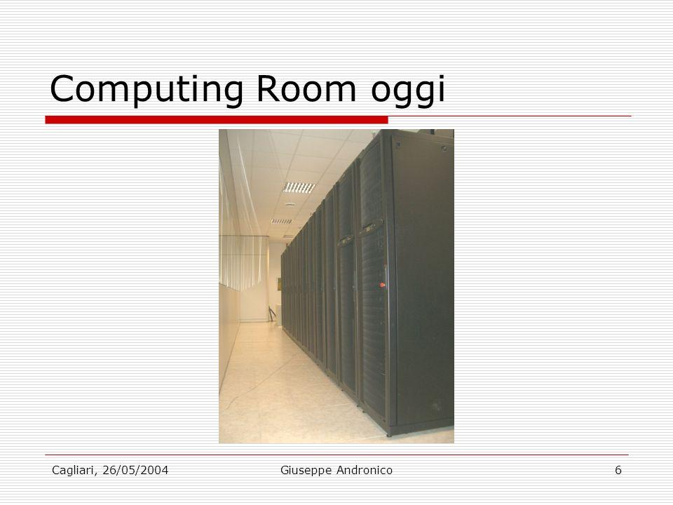 Cagliari, 26/05/2004Giuseppe Andronico6 Computing Room oggi