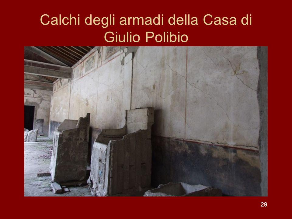 29 Calchi degli armadi della Casa di Giulio Polibio