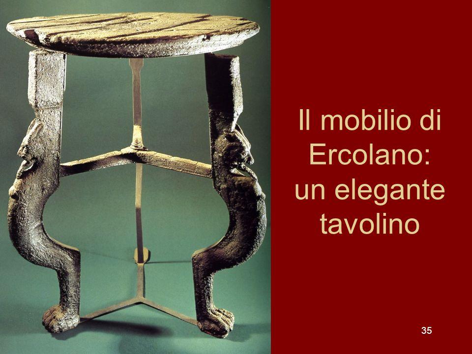 Il mobilio di Ercolano: un elegante tavolino 35