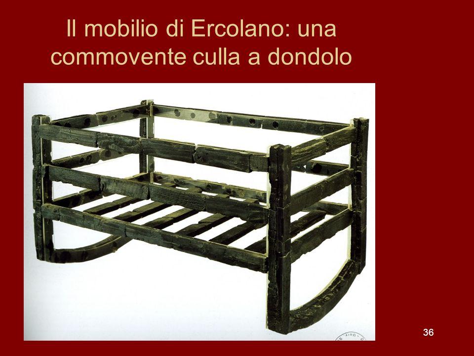 Il mobilio di Ercolano: una commovente culla a dondolo 36