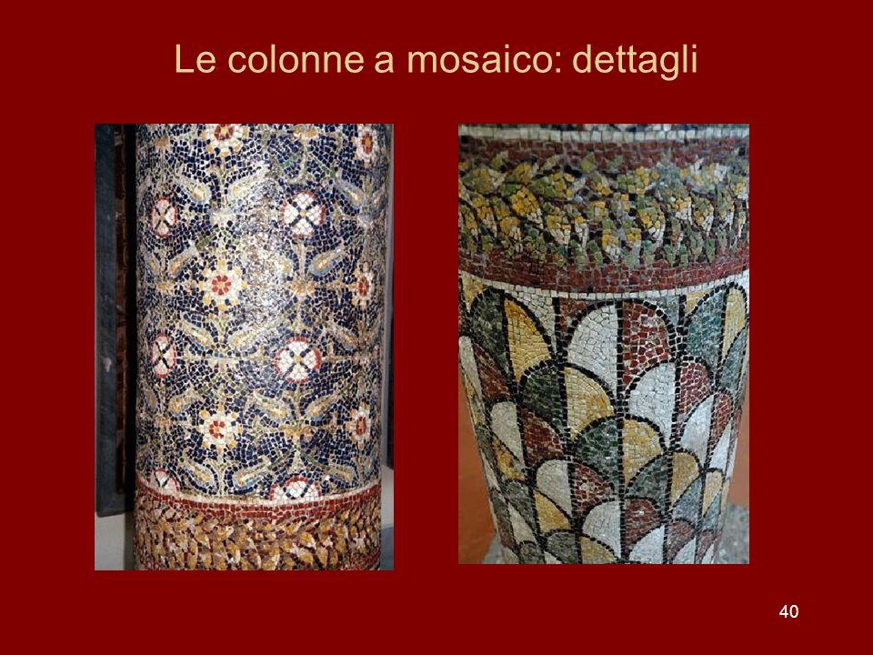 Le colonne a mosaico: dettagli 40