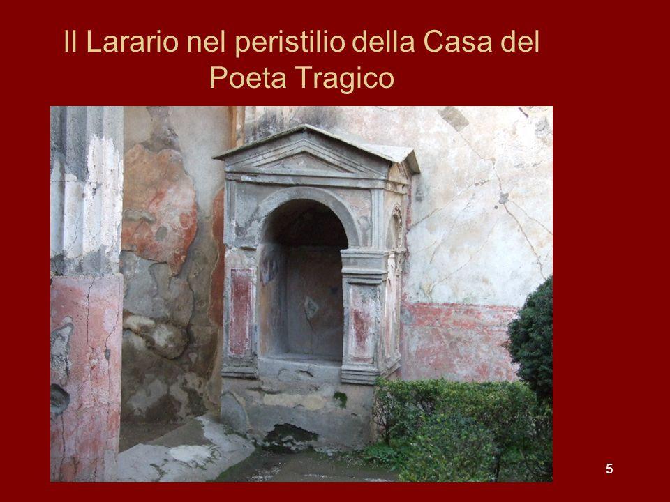 6 La decorazione del peristilio Allangolo nord-orientale del peristilio si trovava originariamente, secondo alcuni studiosi, il celebre affresco del sacrificio di Ifigenia.