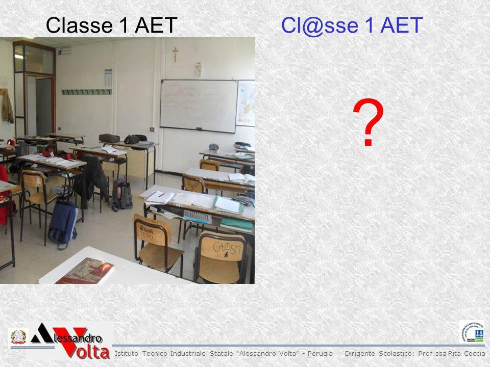 Dirigente Scolastico: Prof.ssa Rita Coccia Istituto Tecnico Industriale Statale Alessandro Volta - Perugia Classe 1 AETCl@sse 1 AET
