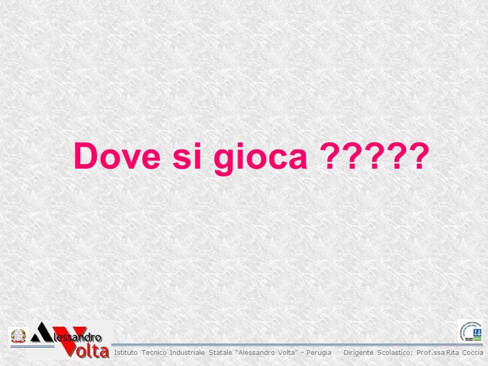 Dirigente Scolastico: Prof.ssa Rita Coccia Istituto Tecnico Industriale Statale Alessandro Volta - Perugia Dove si gioca