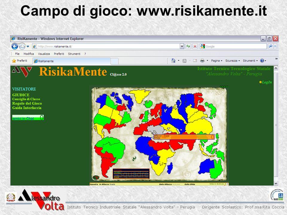 Dirigente Scolastico: Prof.ssa Rita Coccia Istituto Tecnico Industriale Statale Alessandro Volta - Perugia Campo di gioco: www.risikamente.it