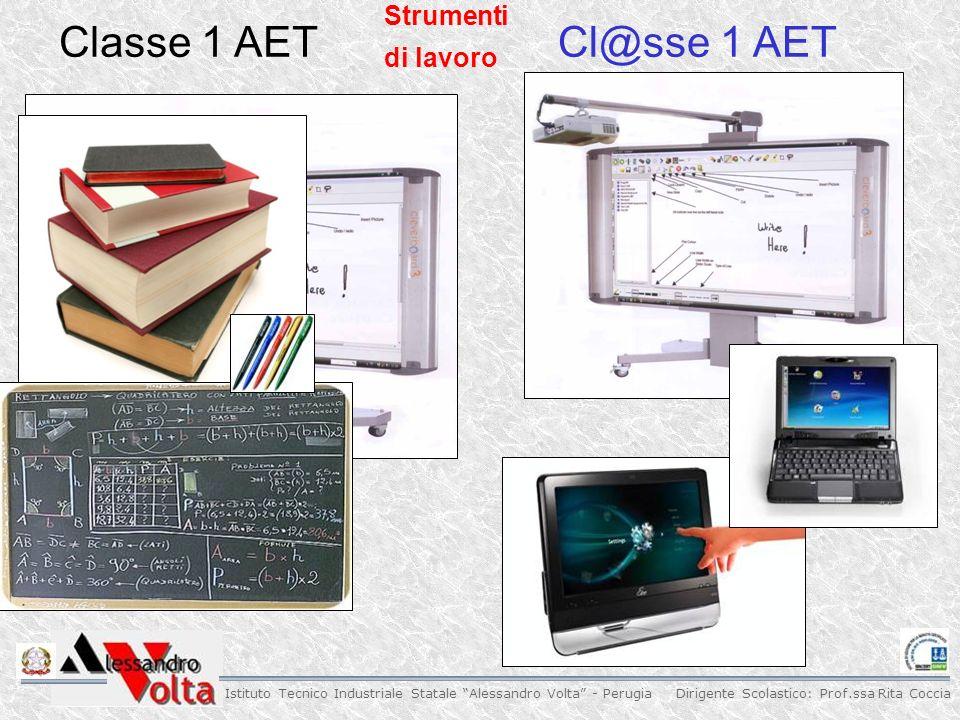 Dirigente Scolastico: Prof.ssa Rita Coccia Istituto Tecnico Industriale Statale Alessandro Volta - Perugia Strumenti di lavoro Classe 1 AETCl@sse 1 AET