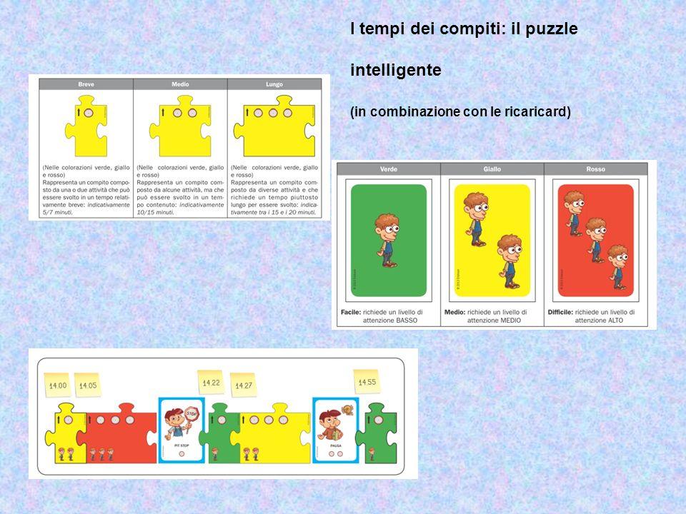 I tempi dei compiti: il puzzle intelligente (in combinazione con le ricaricard)