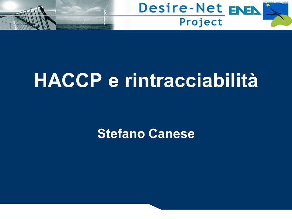 Lo sviluppo del metodo HACCP e del sistema di autocontrollo SEQUENZA LOGICA PER L APPLICAZIONE DELL HACCP (2) Definizione dei pericoli associati ad ogni fase del processo, esecuzione di una Analisi dei Pericoli (HA) e individuazione delle misure di controllo (1° Principio) Identificazione dei Punti Critici di Controllo (CCP) (2° Principio) Definizione dei limiti di accettazione (3° Principio) HACCP e rintracciabilità