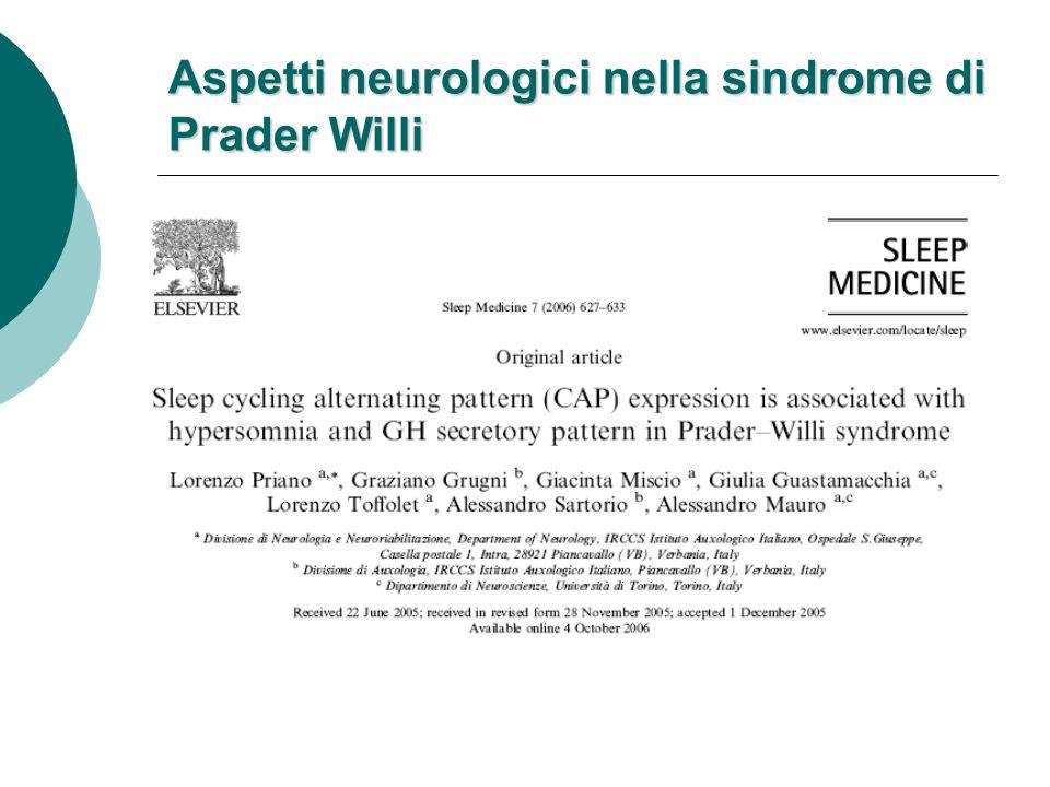 (Dykens et al., 1996) Il disturbo ossessivo-compulsivo nella SPW