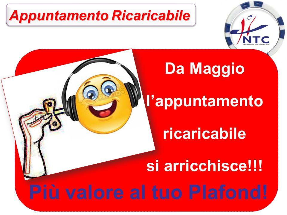 Da Maggio lappuntamento ricaricabile si arricchisce!!.