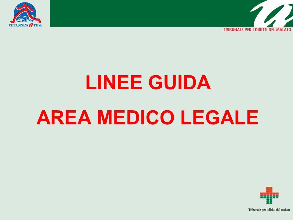 LINEE GUIDA AREA MEDICO LEGALE