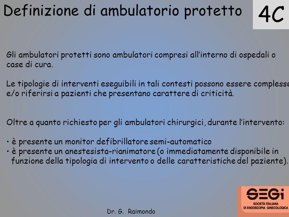 Definizione di ambulatorio protetto Gli ambulatori protetti sono ambulatori compresi allinterno di ospedali o case di cura. Le tipologie di interventi
