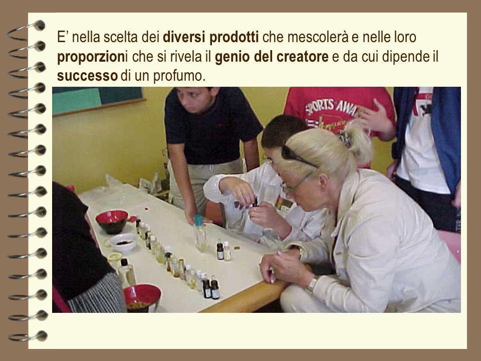 E nella scelta dei diversi prodotti che mescolerà e nelle loro proporzion i che si rivela il genio del creatore e da cui dipende il successo di un pro