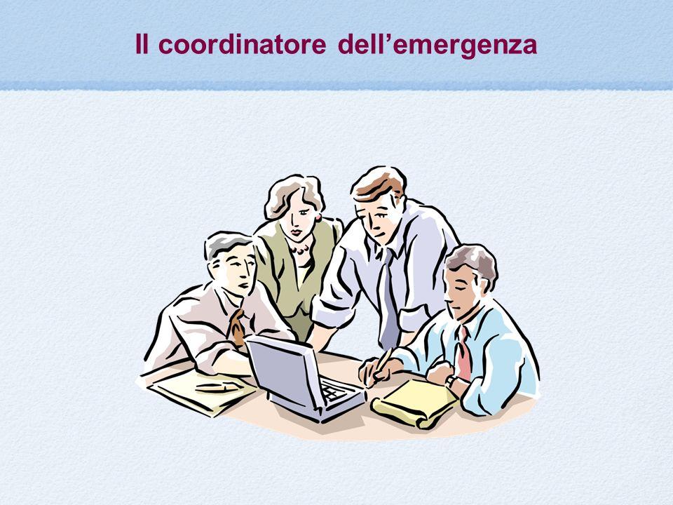 Il coordinatore dellemergenza