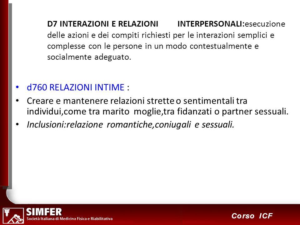 91 Corso ICF D7 INTERAZIONI E RELAZIONI INTERPERSONALI:esecuzione delle azioni e dei compiti richiesti per le interazioni semplici e complesse con le