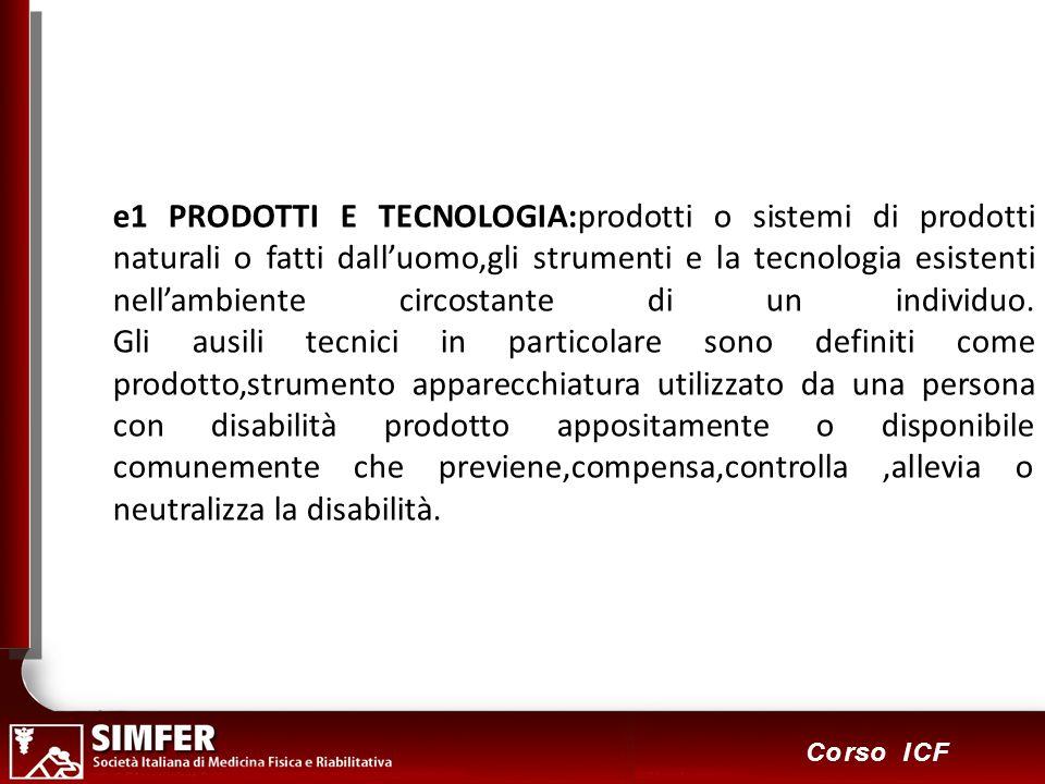 99 Corso ICF e1 PRODOTTI E TECNOLOGIA:prodotti o sistemi di prodotti naturali o fatti dalluomo,gli strumenti e la tecnologia esistenti nellambiente ci