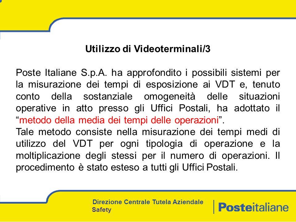 Utilizzo di Videoterminali/3 Poste Italiane S.p.A.