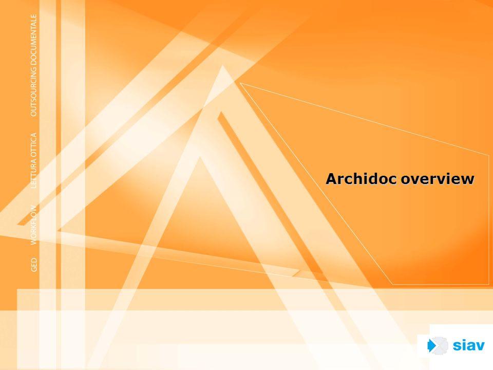 Concetti Archidoc Sistema di gestione dellinformazione e di Workflow collaborativo che integra funzioni di office automation con la gestione di documenti in formato immagine e di dati.