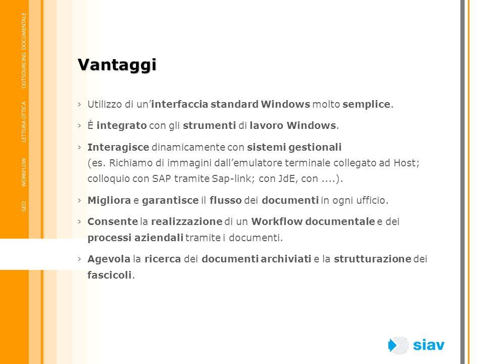 Utilizzo di uninterfaccia standard Windows molto semplice. È integrato con gli strumenti di lavoro Windows. Interagisce dinamicamente con sistemi gest