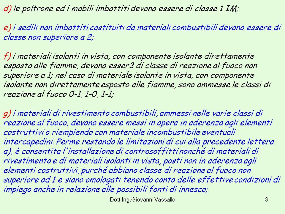 Dott.Ing.Giovanni Vassallo13 Art.3 (modificato dal DM 3/9/01).