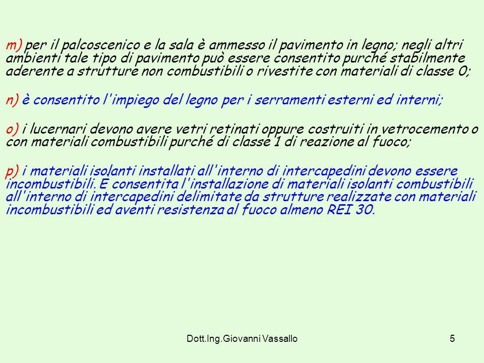 Dott.Ing.Giovanni Vassallo4 h) i materiali di cui alle lettere precedenti devono essere omologati ai sensi del decreto del Ministro dell'interno 26 gi