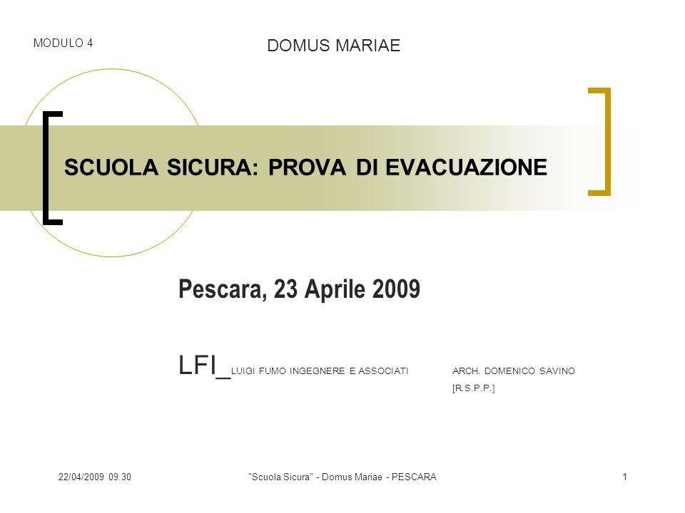 17/04/2014 1.36 Scuola Sicura - Domus Mariae - PESCARA2 Programma giornata 1.