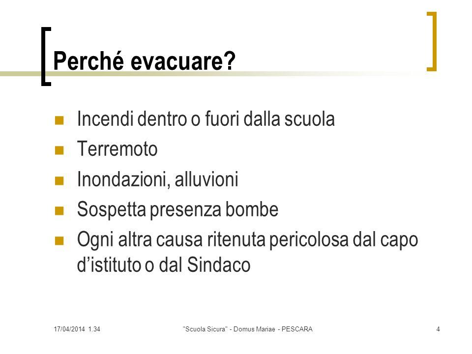 17/04/2014 1.36 Scuola Sicura - Domus Mariae - PESCARA15 Il fuoco Triangolo del fuoco:combustibile, comburente, innesco Combustione (fumi tossici) Incendio (boschi, abitazioni, traffico)